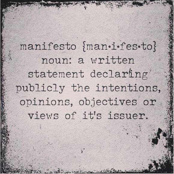 Coco's Manifesto.